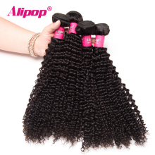 [ALIPOP] Unprocessed Kinky Curly Hair Weave Bundles Brazilian Virgin Hair 1pc 10″-28″ Human Hair Bundles Natural Hair Extension