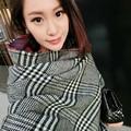 2017 Новая мода шаль шерсти теплый мягкий двойного назначения кашемировый шарф ломаную клетку все матч сгущает Британский стиль шарф женщин