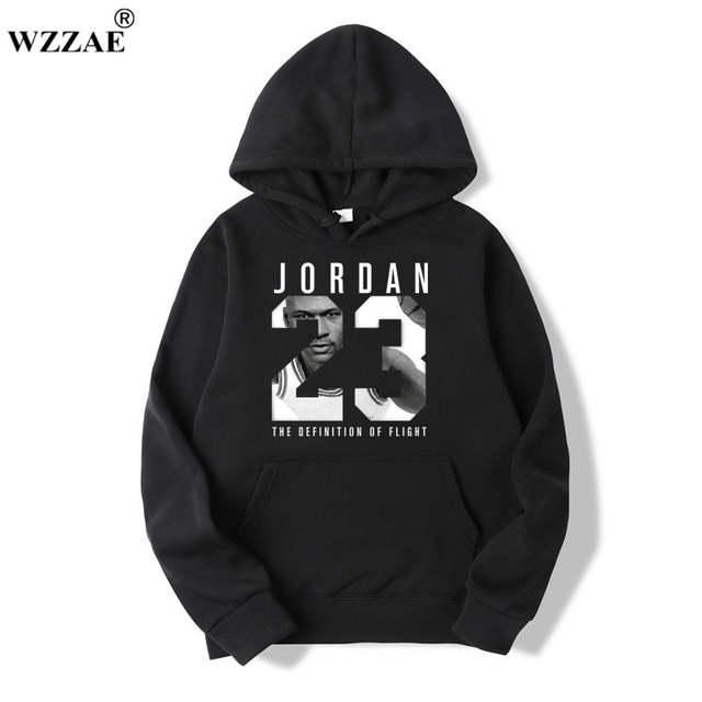 2e68f948ee8 placeholder WZZAE Autumn 2018 New Women/Men's Casual Players JORDAN 23  Print Hedging Hooded Fleece Sweatshirt