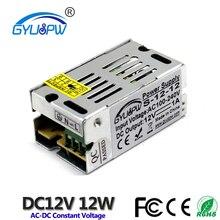 Мини-импульсный источник питания постоянного тока 12 в 1 а 12 Вт адаптер питания трансформатор 100-240 В переменного тока в 12 В постоянного тока SMPS для светодиодных лент лампы освещения