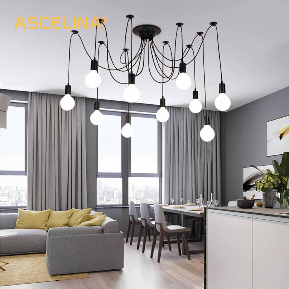 Подвесной светильник в стиле ретро с изображением паука, потолочный светильник в скандинавском стиле, светодиодный подвесной светильник для гостиной, ресторана, украшения кафе