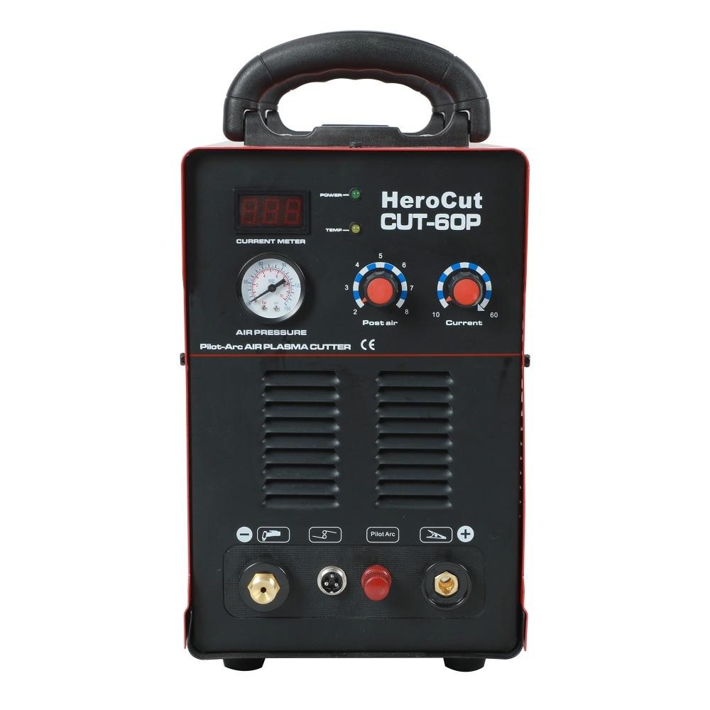Tools : IGBT Pilot Arc HF CUT60SP 60Amps DC Air Plasma cutting machine plasma Cutter Cutting Thickness 20mm Clean Cut