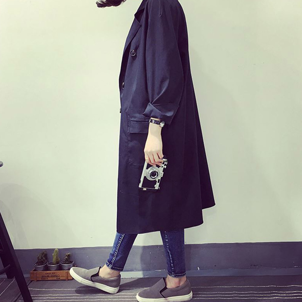 Vessos Windbreaker Long Outerwear Spring Wedding Overcoat Korean Fashion Warm Cotton Solid Color Cardigan