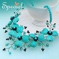 Especial nueva moda collar negro Onyx collar de gargantilla gran collar fornido envío gratuito para chicas mujeres XL150609