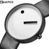 GEEKTHINK New Fashion Simple Designer Creative Quartz Watch Men Luxury Casual Black JAPAN Analog Men Relogio