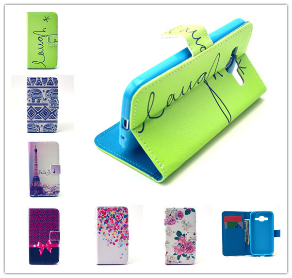 Fashion Printing Wallet Case for Samsung Galaxy Core Prime G360 G360H G360F G3606 G3608 G3609