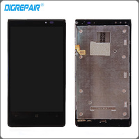 Black LCD Display Touch Screen Digitizer Bezel Frame Full Assembly Replacement Parts For Nokia Lumia 920