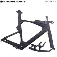 2019 Hot time trail Carbon Bike Frame,TT carbon bicycle frame Fork Seatpost Headset Handlebar Stem Size 48/51/54 Complete Bike