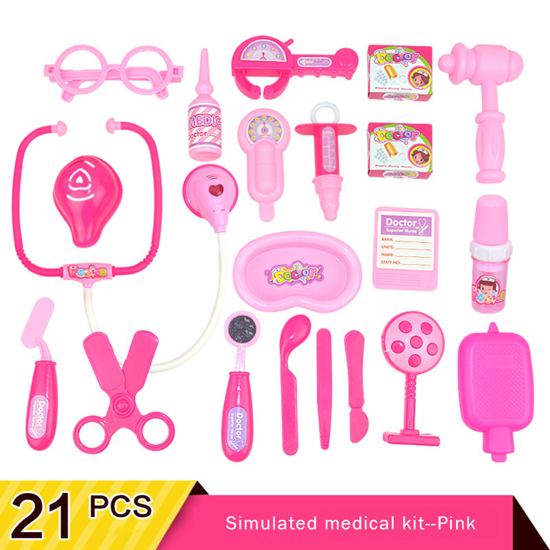 Doctor Toys Medical Set Medicine Box Children Pretend Play Doctor Nurse Role Play Game Kids Educational Classic Toys in Doctor Toys from Toys Hobbies
