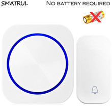 SMATRUL self powered Wireless DoorBell Door Bell ring chime call night light no battery EU plug Waterproof 1 button 1 2 Receiver все цены