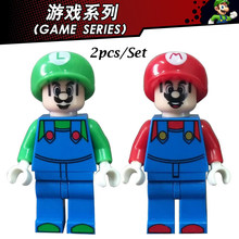 Super Mario Cartoon Game Series Figures Building Block Set Toys For Children Compatiable With Legoing(China)