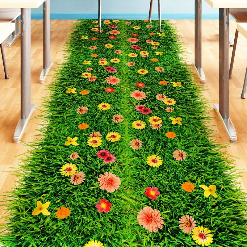 [SHIJUEHEZI] Groene Gazon 3D Vloer Sticker Vinyl DIY Gras Home Decor Sticker voor Kinderen Kamers Baby Slaapkamer Kleuterschool Decoratie