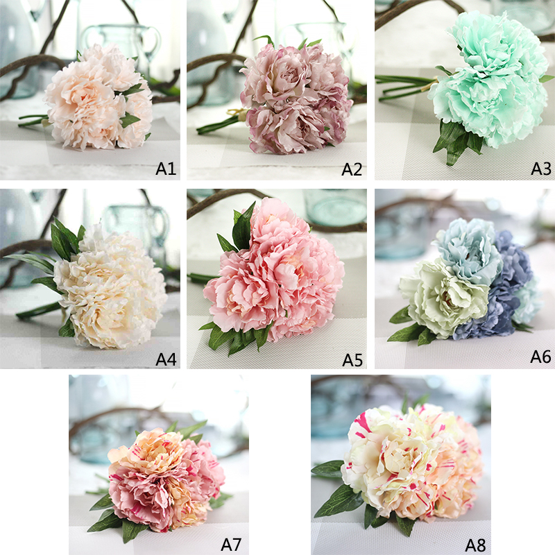 How To Make A Wedding Bouquet With Artificial Flowers. Step. Diy ...