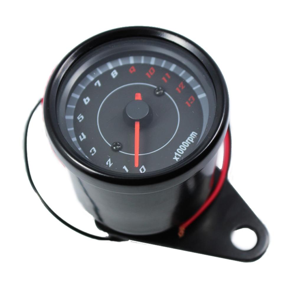 Universalus motociklų tachometro matuoklis 13000 RPM 12v juodas motociklų instrumentas Honda CBR600RR 929RR 1000RR F4i Yamaha Suzuki