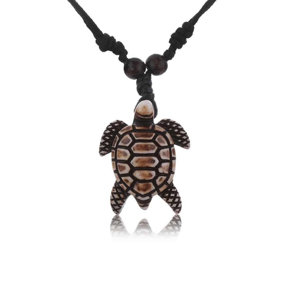Unisex Tribal Imitation Yak Bone White Brown Carved Turtle Pendant Cute Tortoise Skull Sea Turtles Necklace Charms Pendant Gift Aliexpress