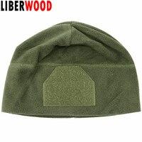 a1cdc722cdb LIBERWOOD Tactical Hat OD green Watch Fleece Cap Hat Hook Loop Patch Style  Winter Warmer Beanie