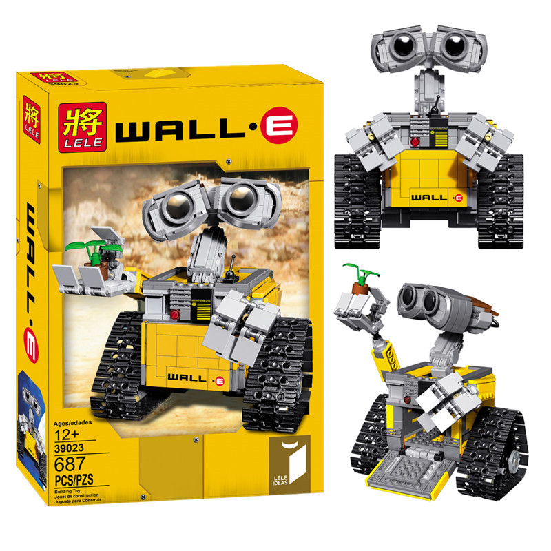 Lepin 16003 Ideas Robot Wall-E Building Assembling Blocks Bricks Educational Kid`s Toys Compatible with LELE 21303 B162 lepin 15009 city street pet shop model building kid blocks bricks assembling toys compatible 10218 educational toy funny gift