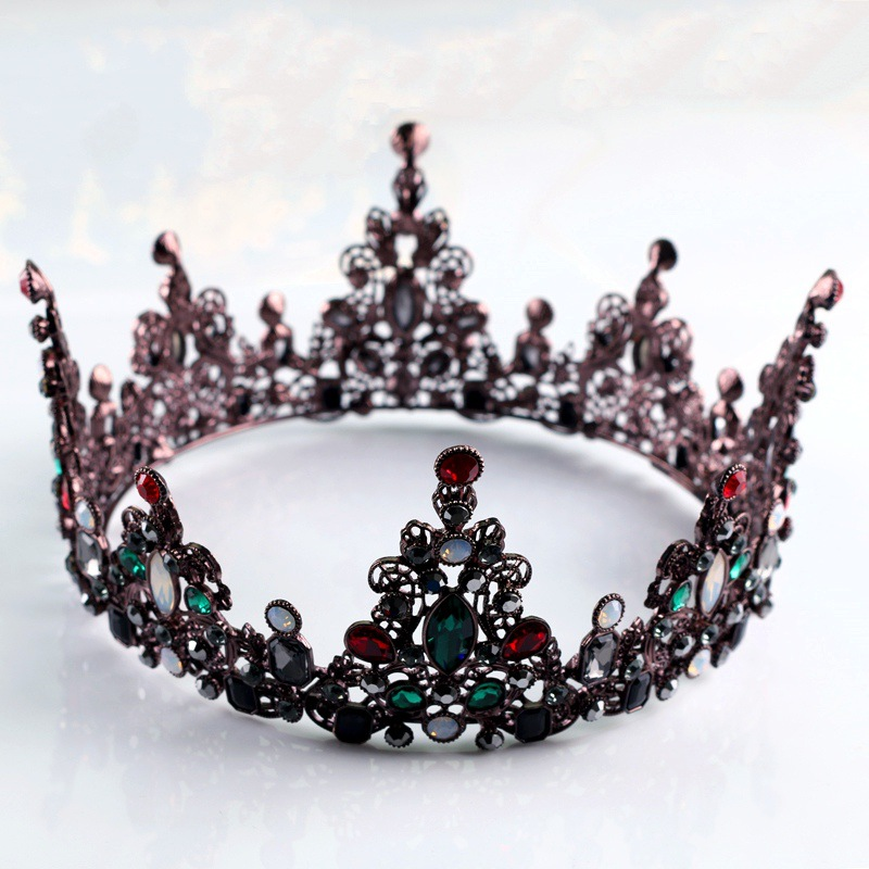 Woodqiqi Baroque retro wedding hair accessories bridal couronne king crown tocado novia pelo best selling 2018 products