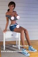 Wmdoll 155センチトップ品質のシリコーンセックス人形巨乳、日本黒愛人形