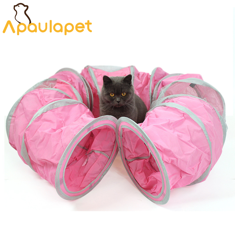 APAULAPET Cangeable Funny Pet Tunnel Cat Play Tunnel Foldable 1 Holes Cat Tunnel Kitten Pet Cat Toys Rabbit Cat House