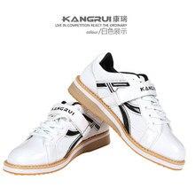 Профессиональная Обувь для тяжелой атлетики; спортивная обувь для приседания; кожаная нескользящая обувь для тяжелой атлетики