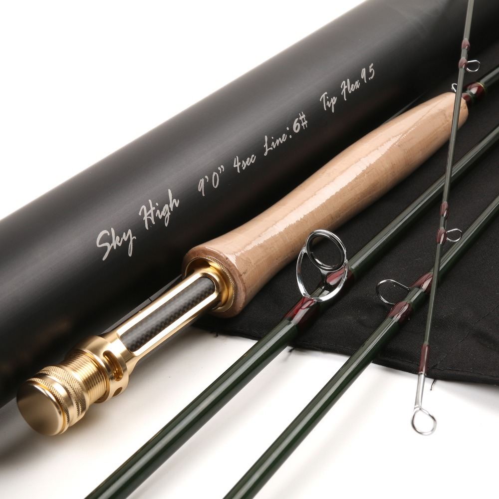 Maximumcatch Brand Skyhigh Fly Fishing Rod IM12 Carbon Fiber 9FT 6WT 4PCS Fast Action Fly Rod