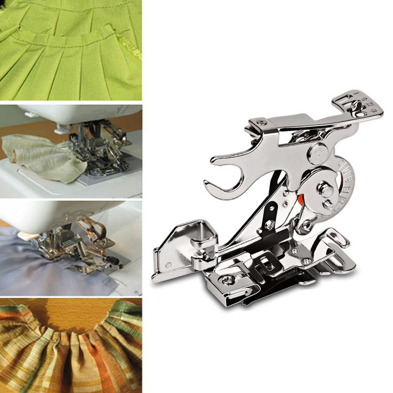 Ruffler Sewing Machine Presser Foot Fit ALL Low Shank Singer Brother Babylock Husqvarna Viking (Husky Series) Euro-pro Janome