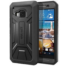 JOYLINK Defender Dual Layer Cover For HTC One M9 Built-in Screen Protector For htc m9,Armor Rugged Hybrid Cover Case