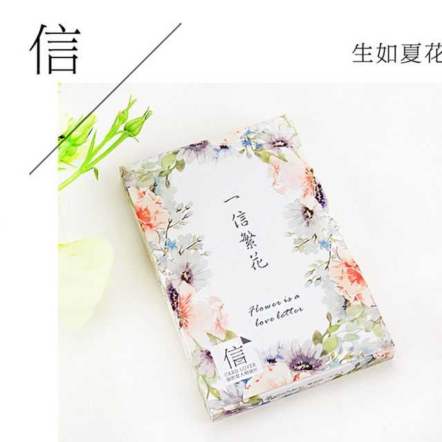 30 Pcs Lot English Love Letter Flower Postcard Greeting Card Christmas Birthday Gift Message Cards