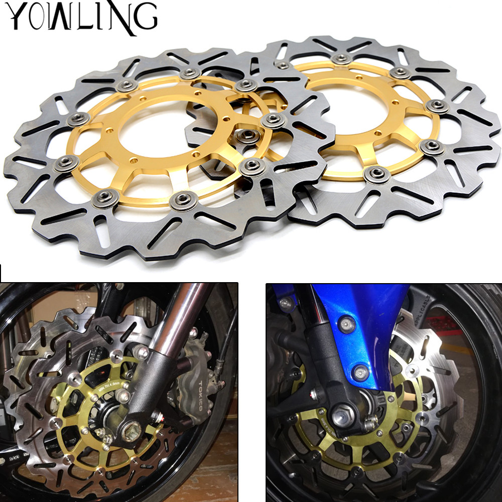2 Pcs Motorcycle Front Floating Brake Disc Rotor For Honda CBR1000RR CBR1000 2006 2007 2008 2009 2010 2011 12 CBR 1000 RR 1000RR 19mm motorcycle cnc racing front fork preload adjusters green for honda cbr600rr 2007 2010 cbr1000rr 2008 2010 cb1000r 2008 2009