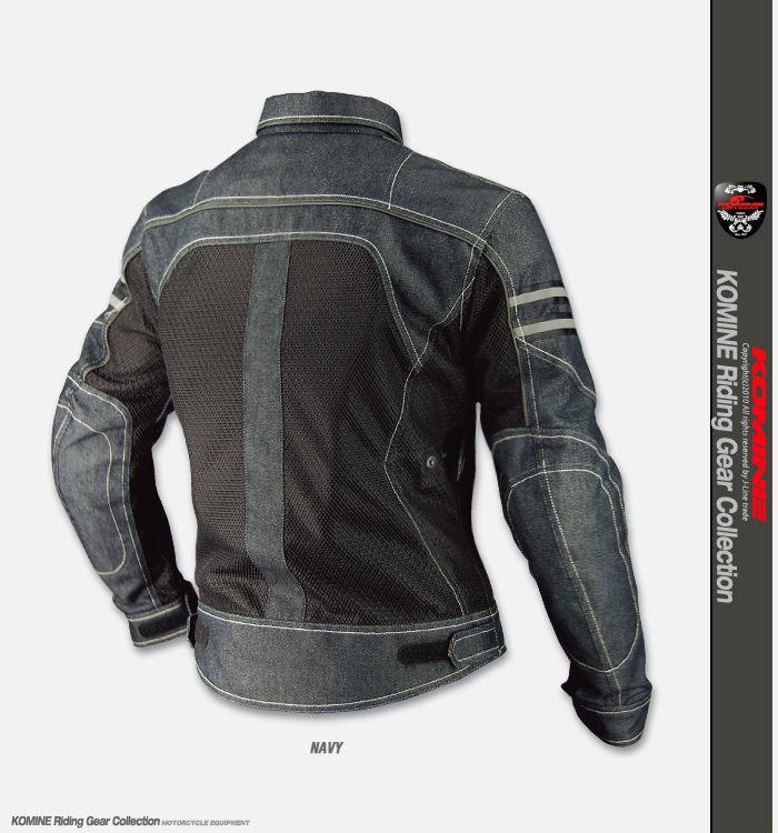 Summer Motorcycle Jacket >> Komine Jk 006 Vintage Denim Mesh Jacket Summer Breathable Motorcycle