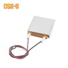 2PCS PTC Heating Element 24V 30x30x6mm 60/230/140/80 Celsius Degree Constant Temperature Heater Plate Aluminium Cover