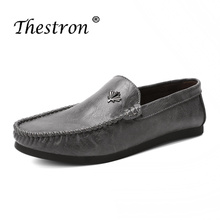 Man Loafers Fashion Black White Driving Shoes for Male Spring Summer Men Casual Slip-on Retro Lightweight