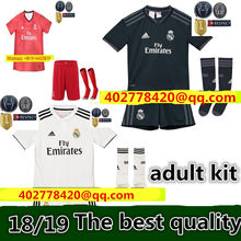 f3113bfd2f8 adult kit 2018 2019 REAL MADRID jersey 18 19 AWAY football camisetas  RONALDO BALE BENZEMA Thai AAA FOOTBALL shirt Soccer jersey