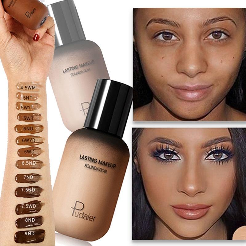 Face Foundation Cream Concealer Full Coverage Matte Base Professional Makeup Skin Tone Corrector For Dark Skin Black People