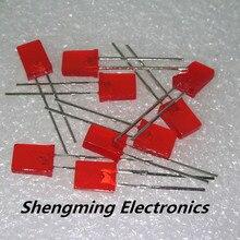 100 шт 2x5x7 красный цвет Led 120deg рассеянный 1,9~ 2,3 В 200mcd 2*5*7 мм