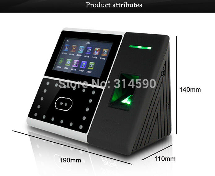 dhl free shipping face fingerprint password time clock attendance english interface zk iface7 face recognition access control ZK 125K Card & Facial Recognition Time Attendance / Fingerprint & Face time Attendance with 125Khz card reader