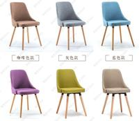 2 PCS free shipping eat chair of solid wood chair. Contemporary and contracted recreational chair. Fabric chairs.