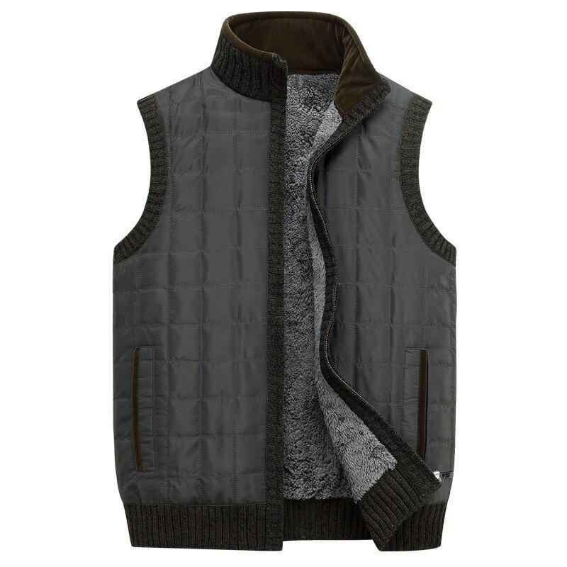 Brand Clothing 2016 Winter Thicken Men s Vests Stand Collar Men Fashion Sleeveless Zipper Coat Warm