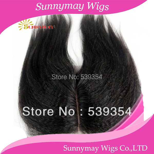 ФОТО In Stock Cheap Brazilian Virgin Human Hair Middle Part Lace Closures Bleached Knot 4*4 kinky straight lace Closure
