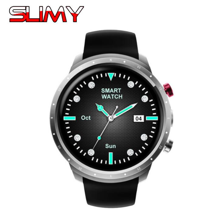 Slimy 3G WIFI GPS Bluetooth Smart Watch Android 5.1 MTK6580 CPU 1.3 Inch 2.0MP Camera Smartwatch for Iphone Huawei Xiaomi ZTE
