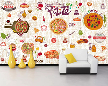 Beibehang Customize any size 3d wallpaper western restaurant pizza cuisine storefront background wall painting