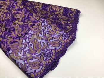 high quality african PURPLE lace fabric latest african guipure France lace for sew nigeria lace fabric with stones lace YD625-2