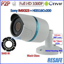 1080P mini ip camera IMX323 Sensor 2MP outdoor ip cam Night Vision CCTV, 3MP HD Lens, H.264, P2P, ONVIF 2.4, + bracket, Full HD