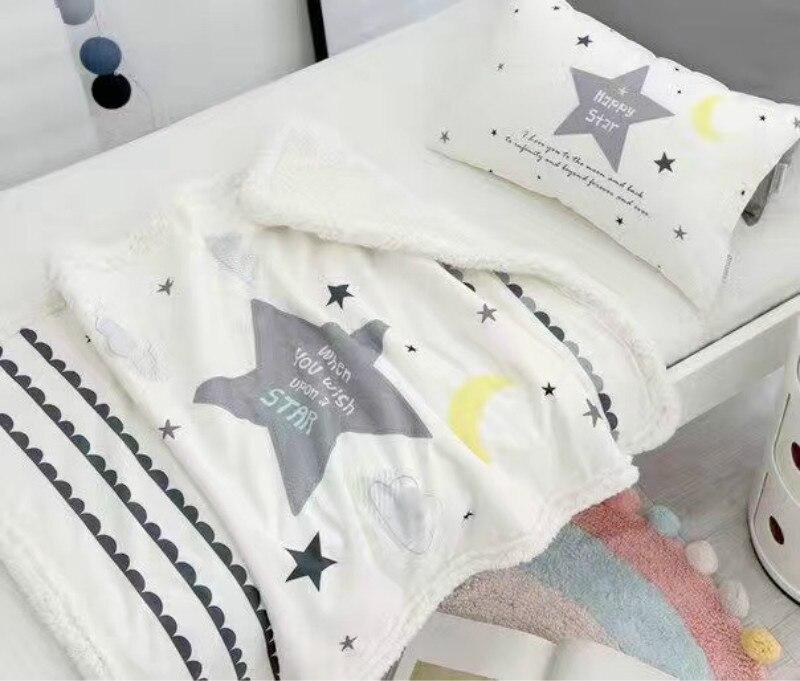 Manta para Bebé Ropa de cama de invierno nube patrón bebé recién ...