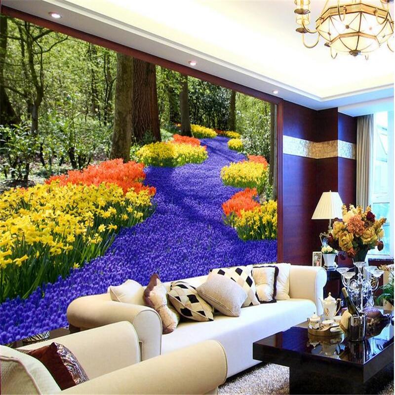 ̿̿̿(•̪ )Beibehang habitación de papel pintado personalizado mural no ...