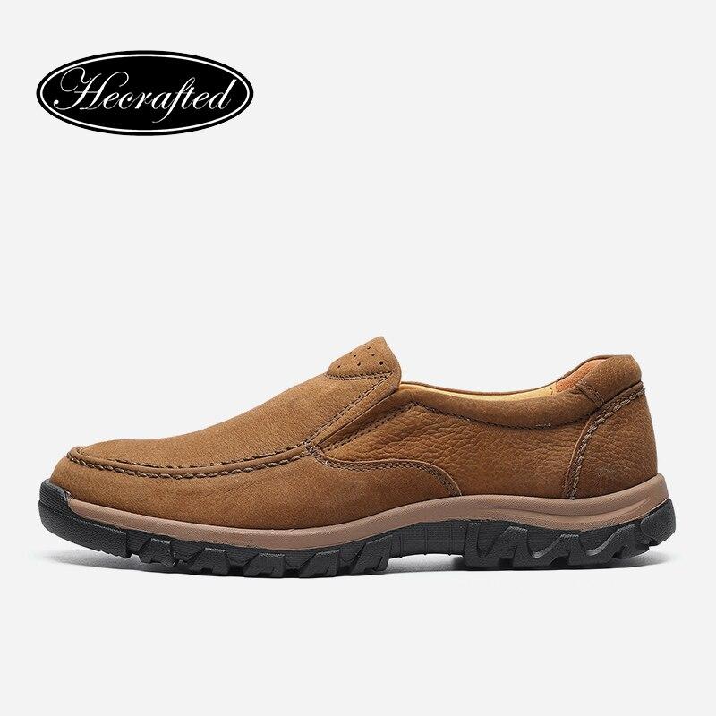 Ayakk.'ten Çalışma ve Güvenlik Botları'de Tam tahıl deri büyük boy Vintage sonbahar ayak bileği el yapımı erkek botları # LS8275'da  Grup 1
