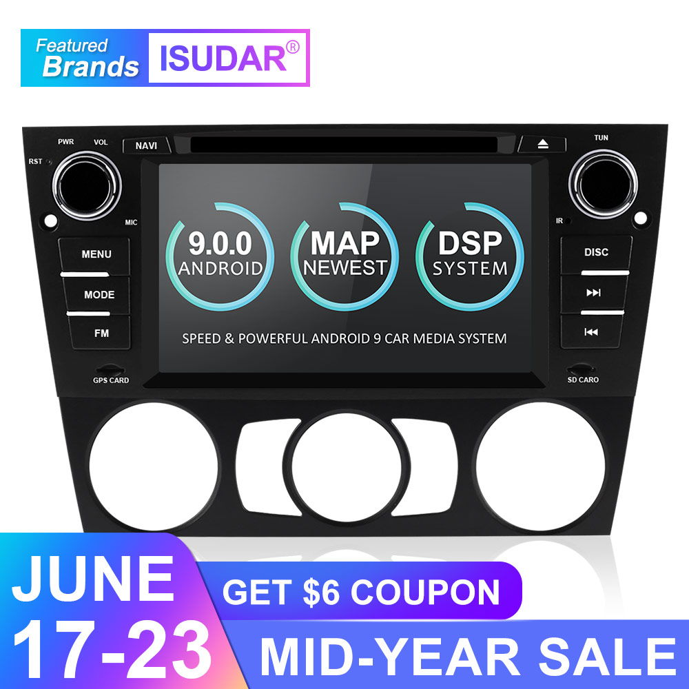 Isudar 2 Din Auto Radio Android 9 For BMW/320/328/3 Series E90/E91/E92/E93 Car Multimedia Video DVD Player GPS Navigation DVR FM