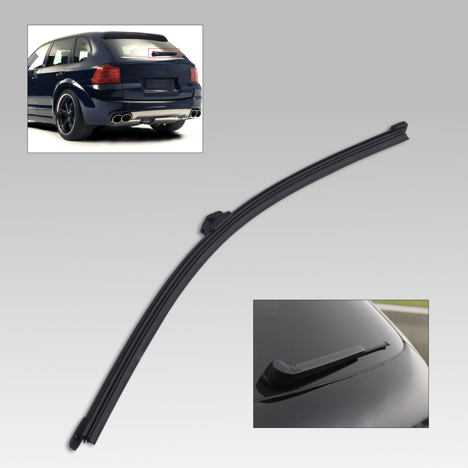Dwcx 14 bracketless frameless rear window windshield wiper blade for porsche cayenne audi volkswagen touareg