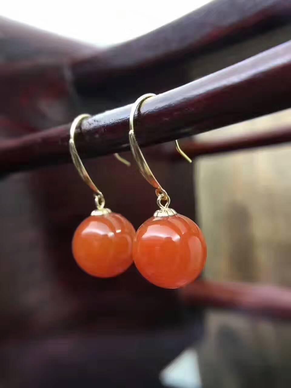 Earings Fashion Jewelry Lanzyo 18k Agate Drop Earrings Fashion Gift For Women Jewelry South Trendy New Wholesale E9.59.501agnh